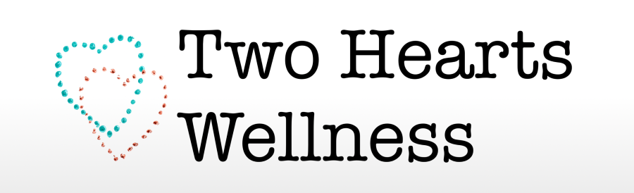 Two Hearts Wellness banner with two interlocked hearts
