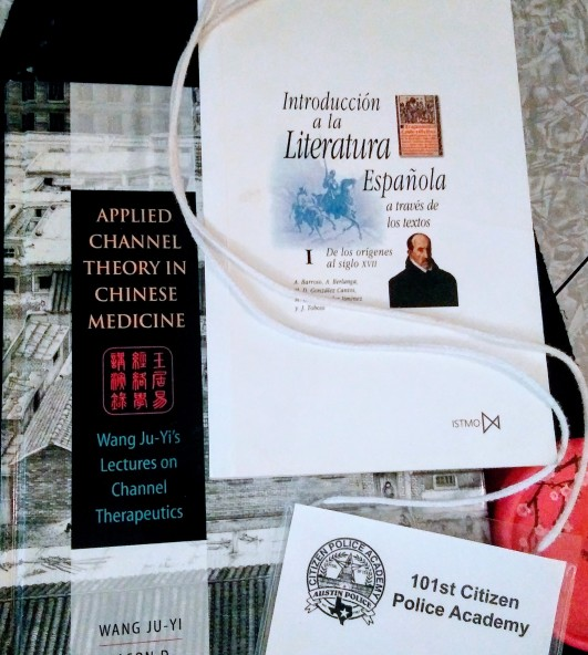 Books and badge